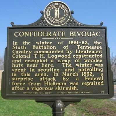 Confederate Bivouac Marker image. Click for full size.