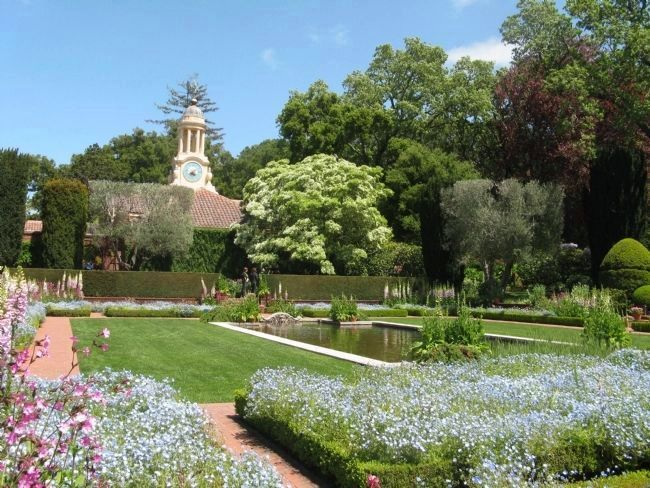 Lower Gardens - Reflecting Pool and Clock Tower image. Click for full size.
