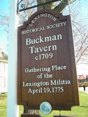 Buckman Tavern image. Click for full size.