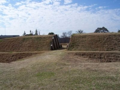 Battle of Savannah , replica of Spring Hill Redoubt image. Click for full size.