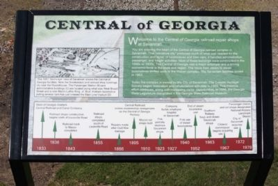 Central of Georgia Marker image. Click for full size.
