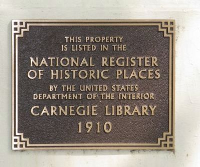 Gilroy Carnegie Library Marker image. Click for full size.