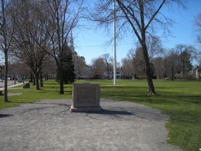 Marker on the Lexington Green image. Click for full size.