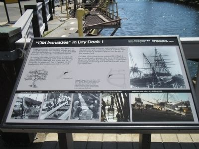"""Old Ironsides"" in Dry Dock 1 Marker image. Click for full size."