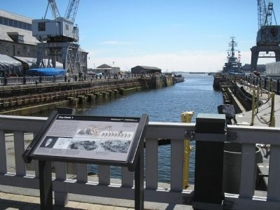 Marker in Charleston Navy Yard image. Click for full size.