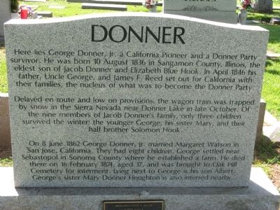 George Donner, Jr. Marker image. Click for full size.