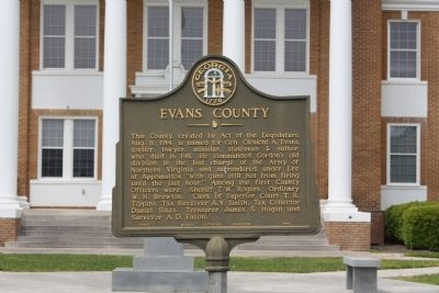 Evans County Marker image. Click for full size.