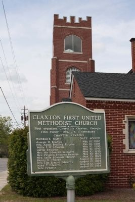 Claxton First United Methodist Church Marker image. Click for full size.