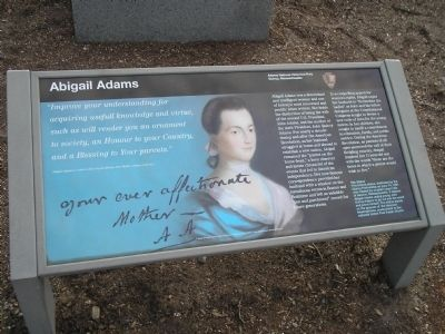 Abigail Adams Marker image. Click for full size.