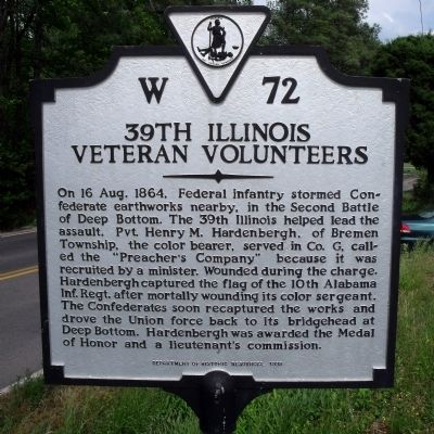 39th Illinois Veteran Volunteers Marker image. Click for full size.