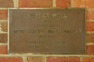 Poteat Hall Marker image. Click for full size.