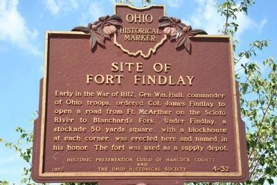 Site of Fort Findlay Marker image. Click for full size.