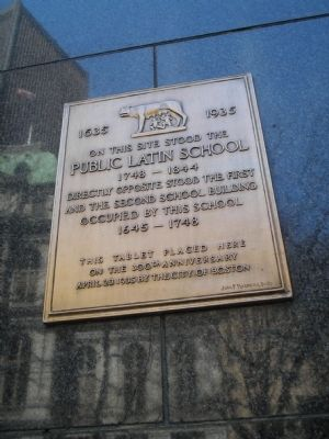 Public Latin School Marker image. Click for full size.