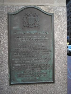 Captain Robert Keayne Marker image. Click for full size.
