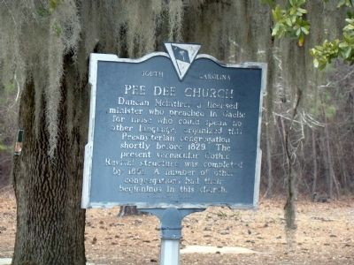 Pee Dee Church Marker image. Click for full size.