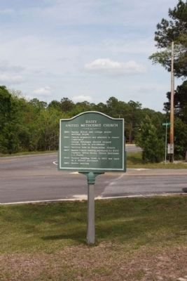 Daisy United Methodist Church Marker as seen along US 280, Ga 30 image. Click for full size.