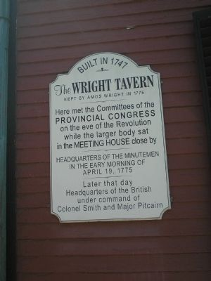 The Wright Tavern Marker image. Click for full size.