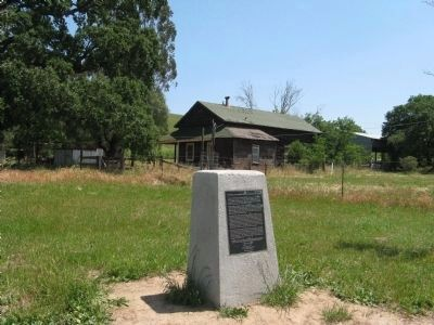 Marker and Harvey Bear Ranch House in Background image. Click for full size.