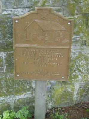 Middle Spring Presbyterian Church Commemorative Marker Marker image. Click for full size.