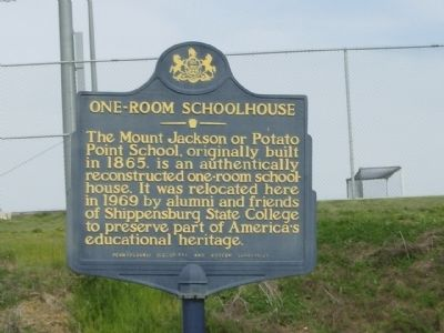 One-Room Schoolhouse Marker image. Click for full size.