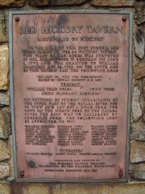 Old Hickory Tavern Marker image. Click for full size.