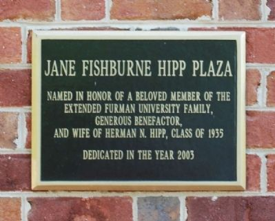 Jane Fishburne Hipp Plaza Marker image. Click for full size.