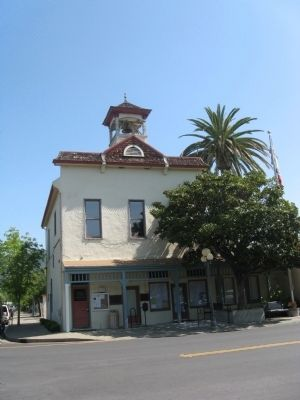 Calistoga City Hall and Marker image. Click for full size.