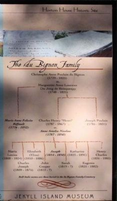 Le Sieur Christophe Anne Poulain Du Bignon family tree excerpt image. Click for full size.