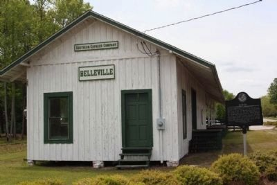 Bellville Marker, looking westward from route Ga 169 image. Click for full size.