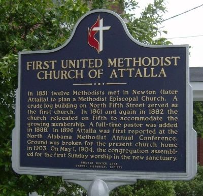 First United Methodist Church Of Attalla Marker image. Click for full size.