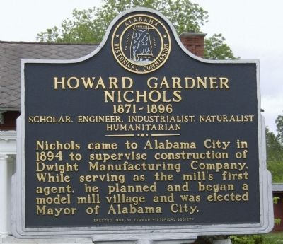 Howard Gardner Nichols 1871-1896 Marker image. Click for full size.