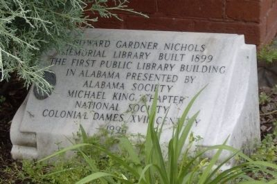 Howard Gardner Nichols Memorial Library Marker image. Click for full size.