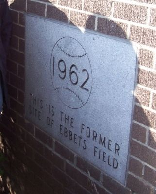 Ebbets Field Marker image. Click for full size.