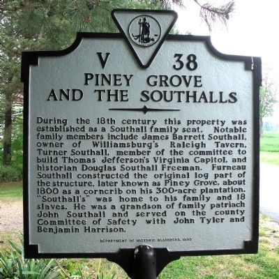 Piney Grove and Southalls Marker image. Click for full size.