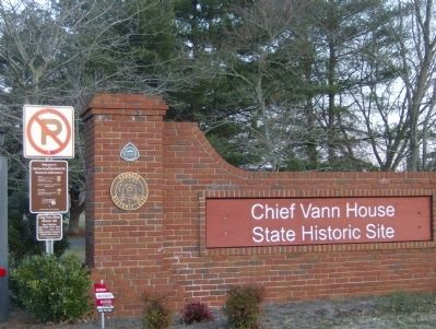 Chief Vann House Entrance to Historic Site image. Click for full size.