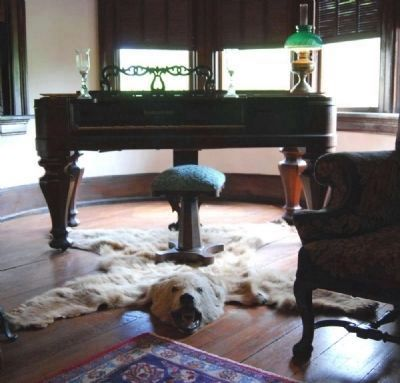 Bear Skin Rug in the Rogers Library image. Click for full size.