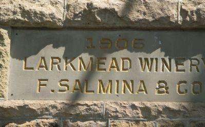 Larkmead Winery Cornerstone image. Click for full size.