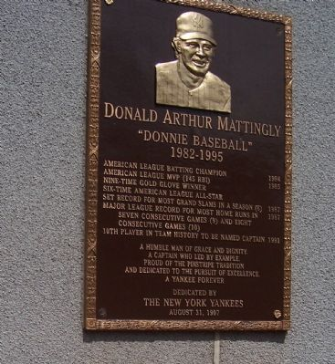 Donald Arthur Mattingly Marker image. Click for full size.