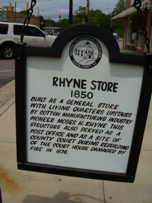 Rhyne Store Marker image. Click for full size.