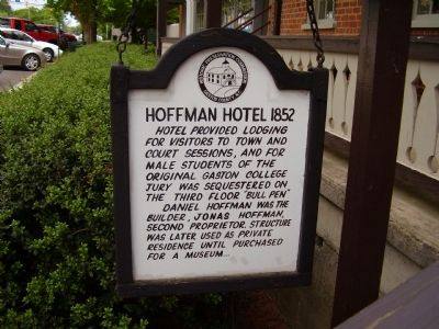 Hoffman Hotel 1852 Marker image. Click for full size.