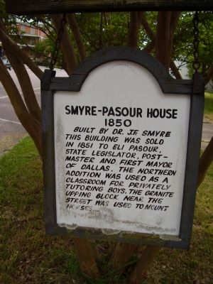 Smyre - Pasour House Marker image. Click for full size.