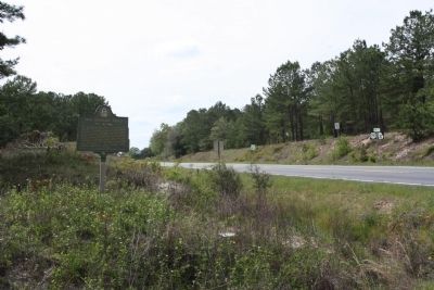 Old Sunbury Road Marker looking west along US 280 , Ga 30 image. Click for full size.