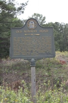 Old Sunbury Road Marker image. Click for full size.