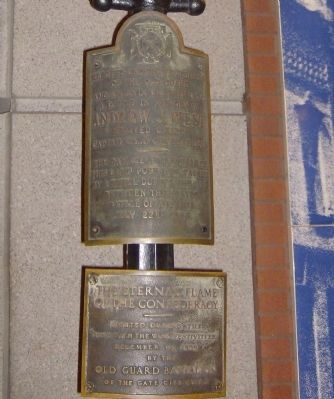 The Eternal Flame Of The Confederacy Marker image. Click for full size.