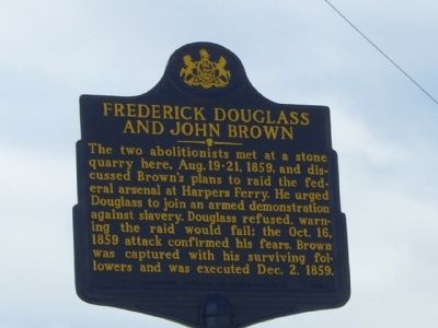 Frederick Douglass and John Brown Marker image. Click for full size.