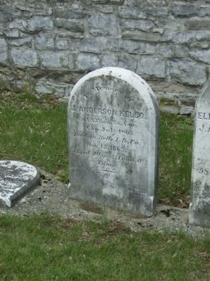Grave of J. Anderson Kelso in church cemetery image. Click for full size.
