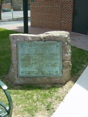 Fort Chambers plaque image. Click for full size.
