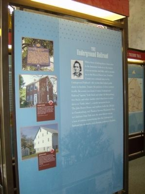 The Underground Railroad Interpretive Panel in the nearby Heritage Center image. Click for full size.