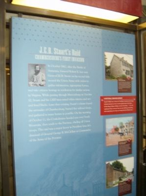 J.E.B. Stuart's Raid Interpretive Panel in the Heritage Center in Chambersburg image. Click for full size.