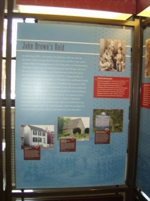 John Brown's Raid Interpretive Panel in the nearby Heritage Center image. Click for full size.